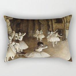 Edgar Degas - Ballet Rehearsal On Stage Rectangular Pillow