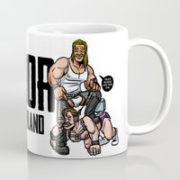 finland Mugs featuring Thor of Finland (Color Version) by Randy Meeks