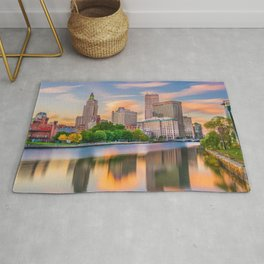 Downtown Providence, Rhode Island Along the Providence River Rug
