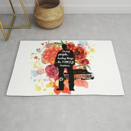 Dean Winchester Quote Rug