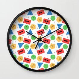 Happy Shapes Wall Clock