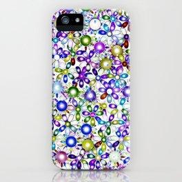 Vivid floral pattern 4181B iPhone Case