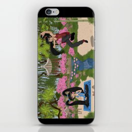 Karma and Dharma Girls in Chinese Garden iPhone Skin