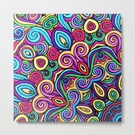 Saratoga Rainbow Swirls Absract Metal Print