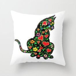 Catscratch Throw Pillow