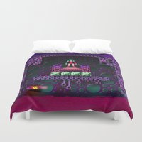 metroid Duvet Covers featuring Metroid - Justin Bailey by likelikes