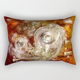 Rings and discs Rectangular Pillow