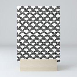 Japanese Wave Black & White Glam #1 #decor #art #society6 Mini Art Print