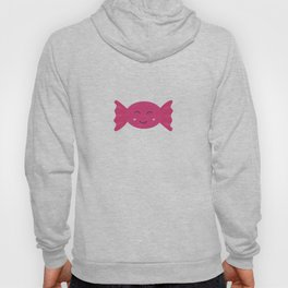 Pink candy bonbon with smile Hoody