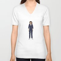 ripley V-neck T-shirts featuring Alien - Ellen Ripley by V.L4B
