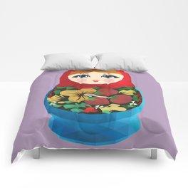 Matryoshka Polygon Art Comforters