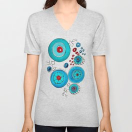 Oriental poppies vivid  Unisex V-Neck