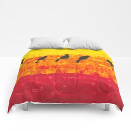 Birds of a feather, flock together! Comforters