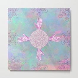 Opal Palms Metal Print