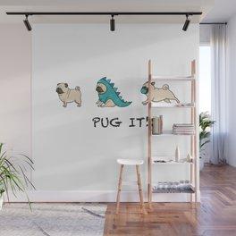 PUG, PUGS (great on teeshirts)! Wall Mural