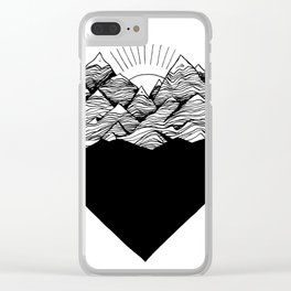Heart is buried Clear iPhone Case