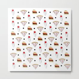 pizza dot weed dot burger dot Metal Print