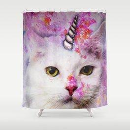 Unicorn Cat Shower Curtain