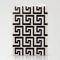 greek Stationery Cards featuring Greek Key by Charlene McCoy
