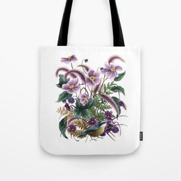 Autumn Nuthatch Tote Bag