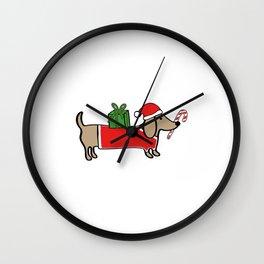 Christmas dachshund Wall Clock