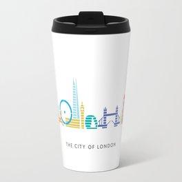 London Skyline White Travel Mug