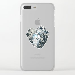 Hematite Crystal Cluster Clear iPhone Case