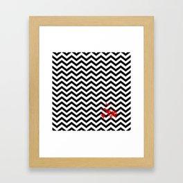 Black Lodge Dreams (Blood On The Red Room Floor) Framed Art Print