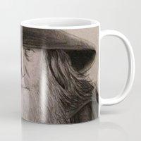 gandalf Mugs featuring Gandalf by Steve Nice