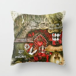 Queen of the Hearts Throw Pillow