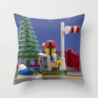 airplanes Throw Pillows featuring Airplanes by Pedro Nogueira