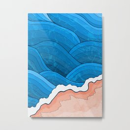 Seaside Beach Metal Print