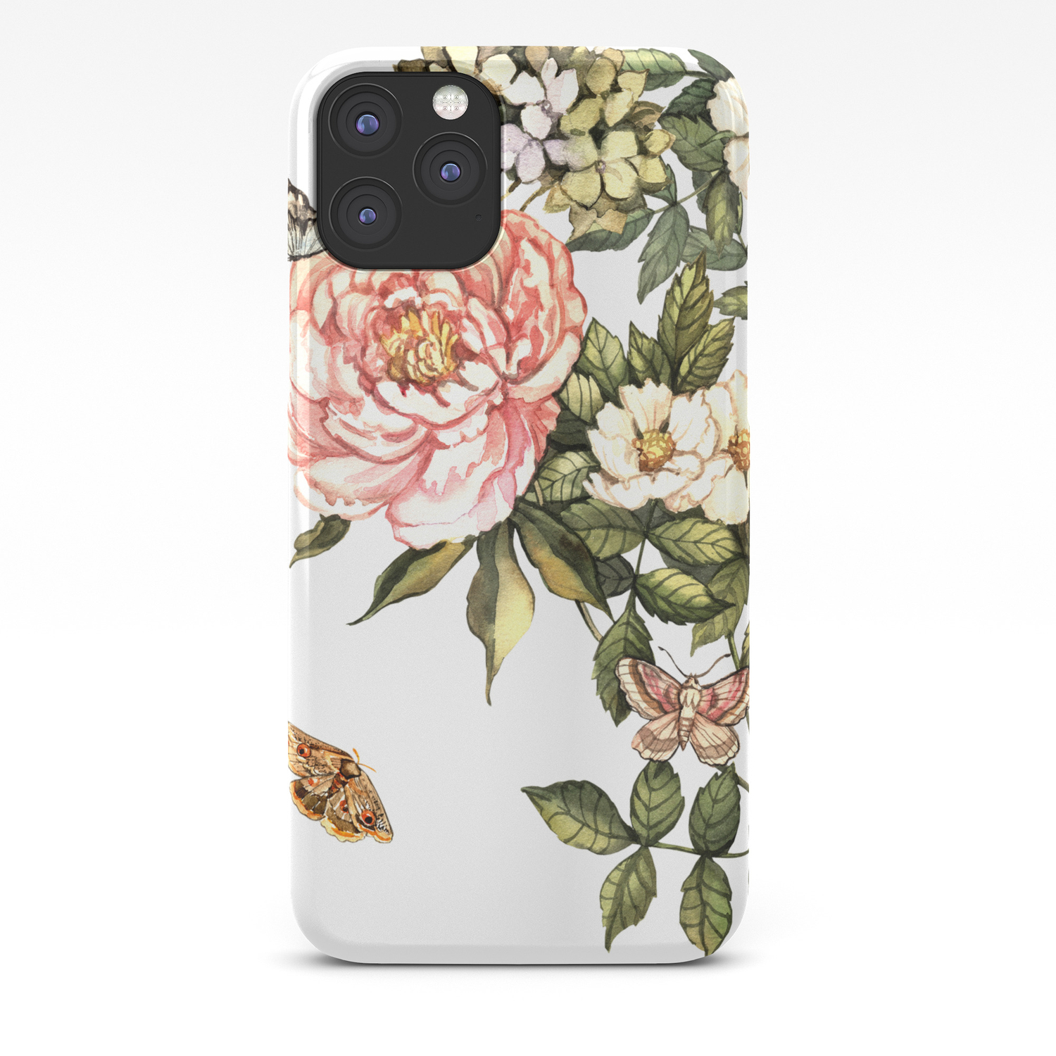 Vintage Floral Watercolor Background Iphone Case By Anyudina