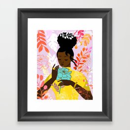 Marigold in October Framed Art Print