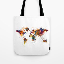 World Map Tote Bag