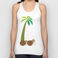 coconut wishes Tank Tops featuring Coconut Twins by HK Chik