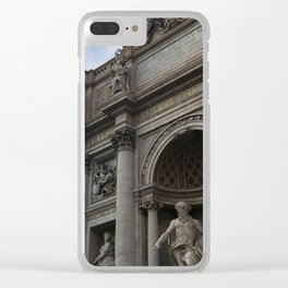 The Trevi Fountain Clear iPhone Case