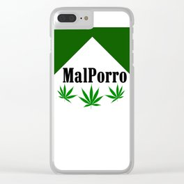 Weed is in the air Clear iPhone Case