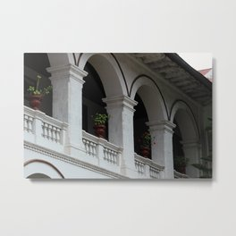 Arches in a Monastery Metal Print