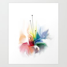 Beautiful abstract flower Art Print