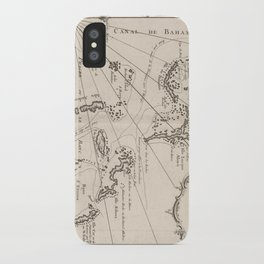 Vintage Map of The Bahamas (1764) iPhone Case
