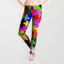 Jigsaw Pieces In Colour Leggings