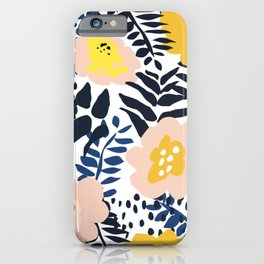 Annicks floral, modern pattern: matching to design for a happy life  iPhone Case