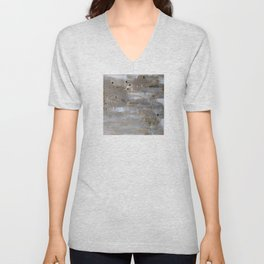 Silver and Gold Abstract Unisex V-Neck