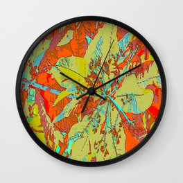 Red green Wall Clock