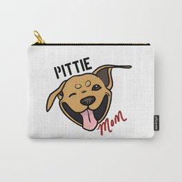 Tan Pittie Mom Carry-All Pouch