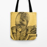 knight Tote Bags featuring Knight by Red Drago