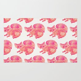 Watercolor Raccoon – Pink Palette Rug