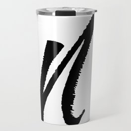 Letter N Ink Monogram Travel Mug
