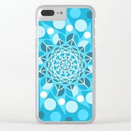 Peace Moon Mandala Clear iPhone Case